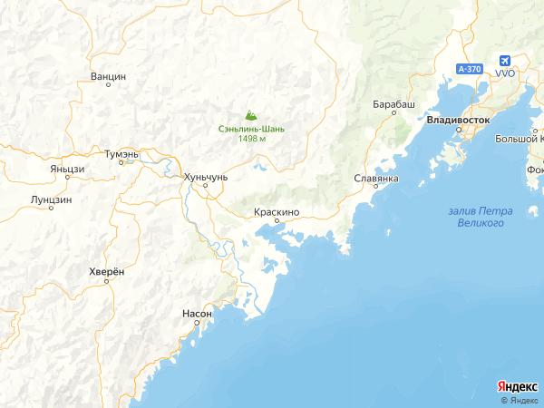 поселок Угловая на карте
