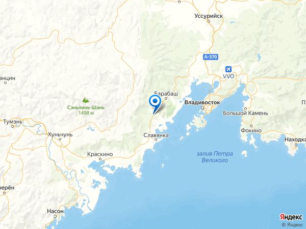 посёлок Синий Утёс на карте