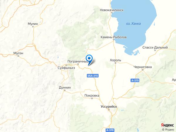 поселок Таловый на карте