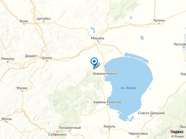 село Рассказово на карте