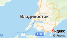 Гостиницы города Владивосток на карте