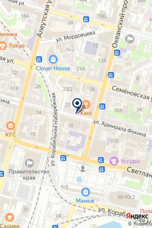 Инспекция Федеральной налоговой службы России по Фрунзенскому району на карте Владивостока
