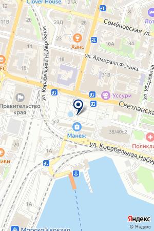 Владхим на карте Владивостока
