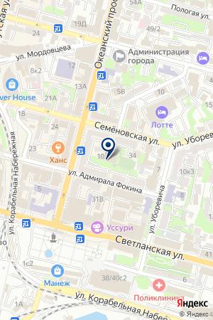 Ориджин на карте Владивостока