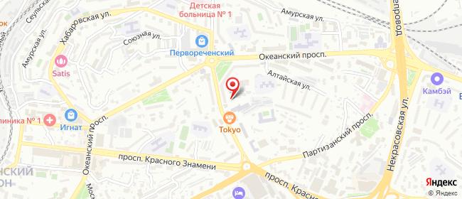 Карта расположения пункта доставки Siberian Wellness в городе Владивосток