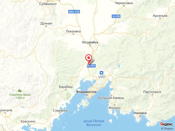 поселок Раздольное на карте