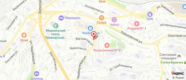Карта расположения пункта доставки Ростелеком в городе Владивосток