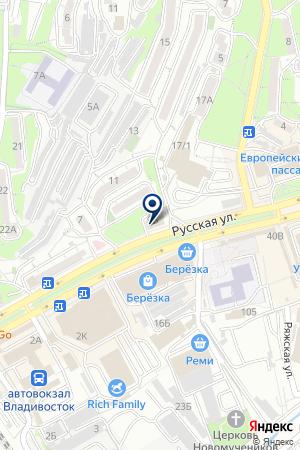 Имперрис на карте Владивостока