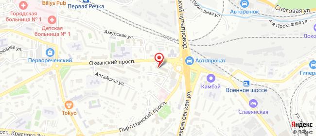 Карта расположения пункта доставки Westfalika в городе Владивосток