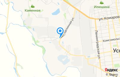 Местоположение на карте пункта техосмотра по адресу Приморский край, г Уссурийск, ул Целинная, зд 7/1