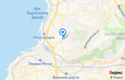 Местоположение на карте пункта техосмотра по адресу г Владивосток, ул Днепровская, д 37
