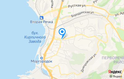 Местоположение на карте пункта техосмотра по адресу г Владивосток, ул Фирсова, д 1