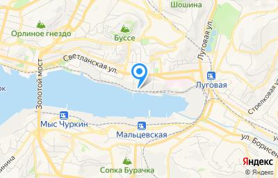 Местоположение на карте пункта техосмотра по адресу г Владивосток, ул Экипажная, д 2