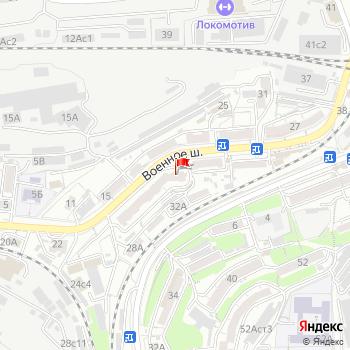 г. Владивосток, шоссе. Военное,32 на карта