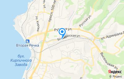 Местоположение на карте пункта техосмотра по адресу г Владивосток, ул Бородинская, д 16