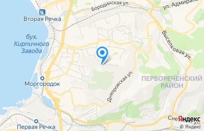 Местоположение на карте пункта техосмотра по адресу г Владивосток, ул Толбухина, д 2