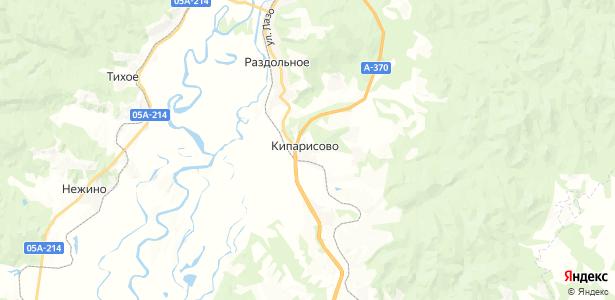 Кипарисово на карте