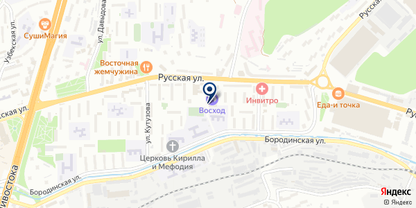 Заказник на карте Владивостоке