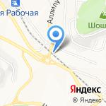 Силуэт на карте Владивостока