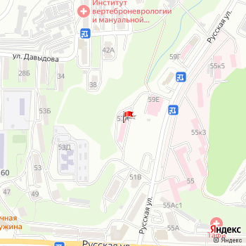 г. Владивосток, ул. Русская,57А на карта