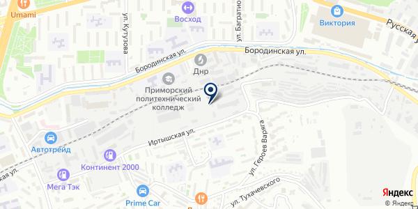 Техавтоконтроль на карте Владивостоке
