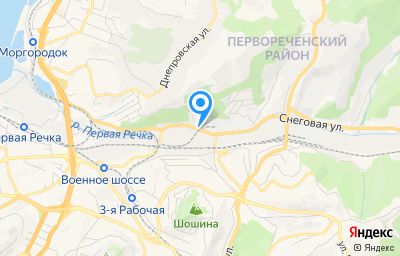 Местоположение на карте пункта техосмотра по адресу г Владивосток, ул Снеговая, зд 7Б