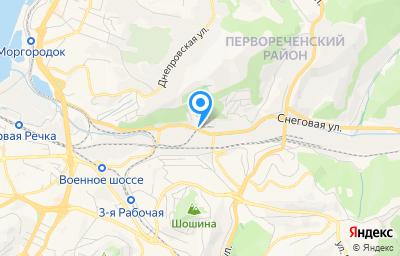 Местоположение на карте пункта техосмотра по адресу г Владивосток, ул Снеговая, д 7Б