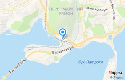 Местоположение на карте пункта техосмотра по адресу г Владивосток, ул Катерная, д 2