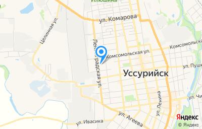 Местоположение на карте пункта техосмотра по адресу Приморский край, г Уссурийск, ул Пролетарская, д 2Б