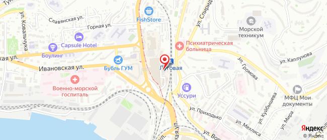 """Карта расположения пункта доставки Владивосток Трамвайная 14 (магазин """"Пешеход"""") в городе Владивосток"""
