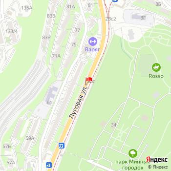 г. Владивосток, ул. Луговая, на карта