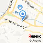 Настоящий Обувной на карте Владивостока