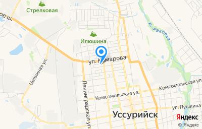 Местоположение на карте пункта техосмотра по адресу Приморский край, г Уссурийск, ул Пионерская, д 17А