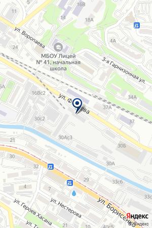 АБА на карте Владивостока
