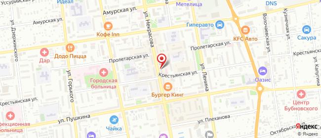 Карта расположения пункта доставки Ростелеком в городе Уссурийск