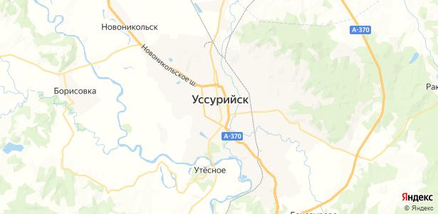 Уссурийск на карте