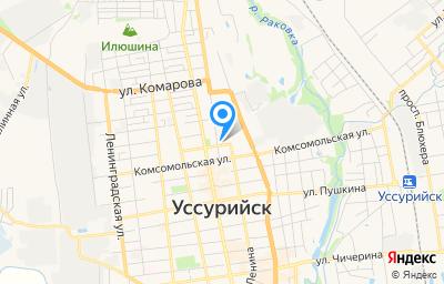 Местоположение на карте пункта техосмотра по адресу Приморский край, г Уссурийск, ул Амурская, зд 71