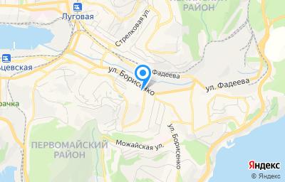 Местоположение на карте пункта техосмотра по адресу г Владивосток, ул Борисенко, д 40А