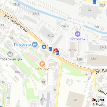 г. Владивосток, ул. Борисенко, на карта