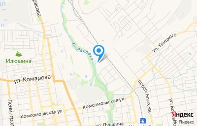 Местоположение на карте пункта техосмотра по адресу Приморский край, г Уссурийск, ул Тургенева, д 113