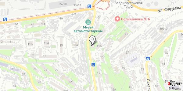 Жасмин. Схема проезда в Владивостоке