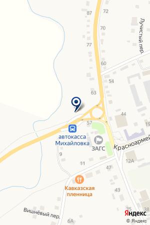 Строймаг на карте Михайловки