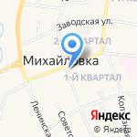 Отделение почтовой связи на карте Михайловки