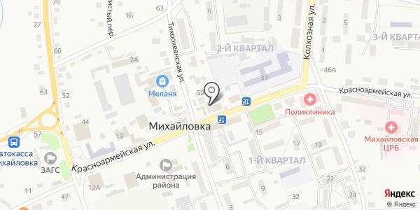 Магазин продуктов. Схема проезда в Михайловке