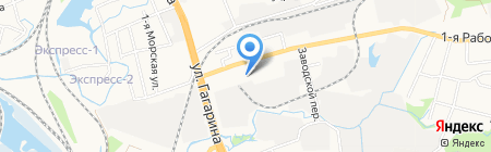 Аквадом на карте Артёма