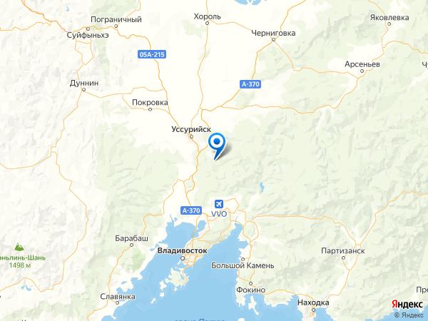 село Дубовый Ключ на карте
