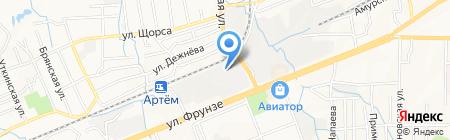 Комфорт-Строй на карте Артёма