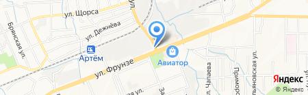 Ава-Трак на карте Артёма