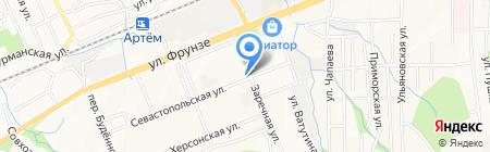 Перекресток на карте Артёма