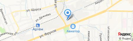 Скат на карте Артёма